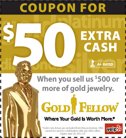 Yelp $50 More Cash at GoldFellow