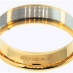 14K Men's wedding band made by Artcarved