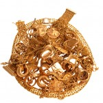 scrap gold jewelry including gold rings, gold watches and gold chains