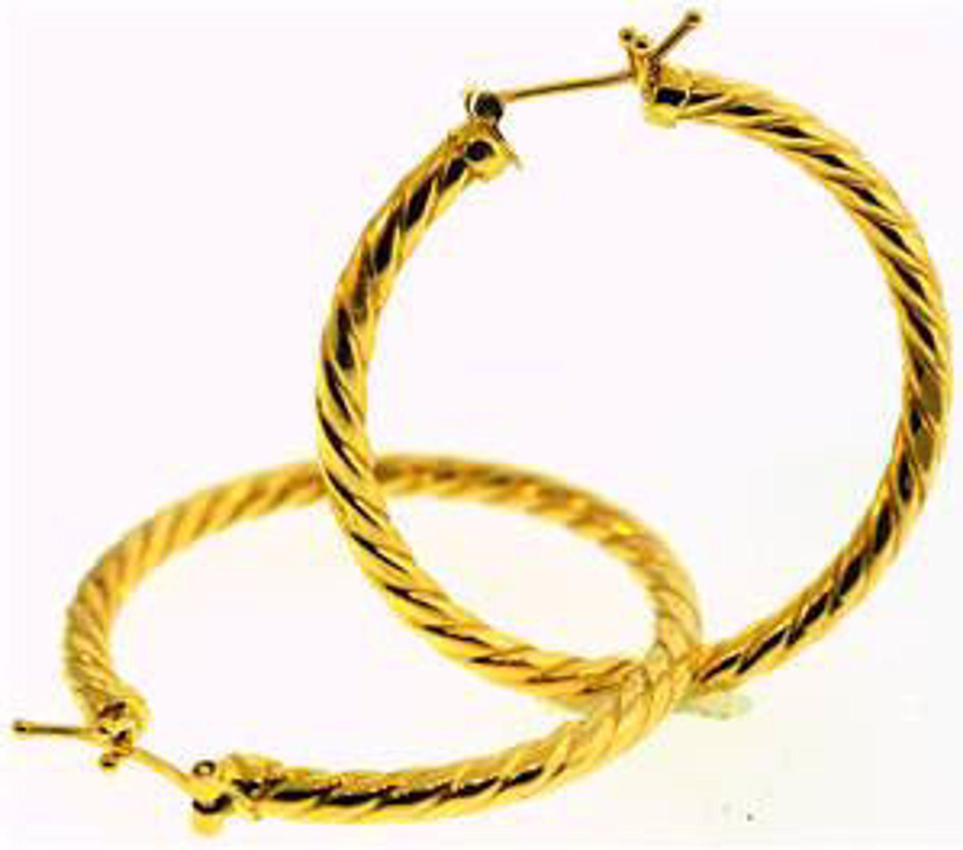 Picture of Earrings 18kt-3.0 DWT, 4.7 Grams