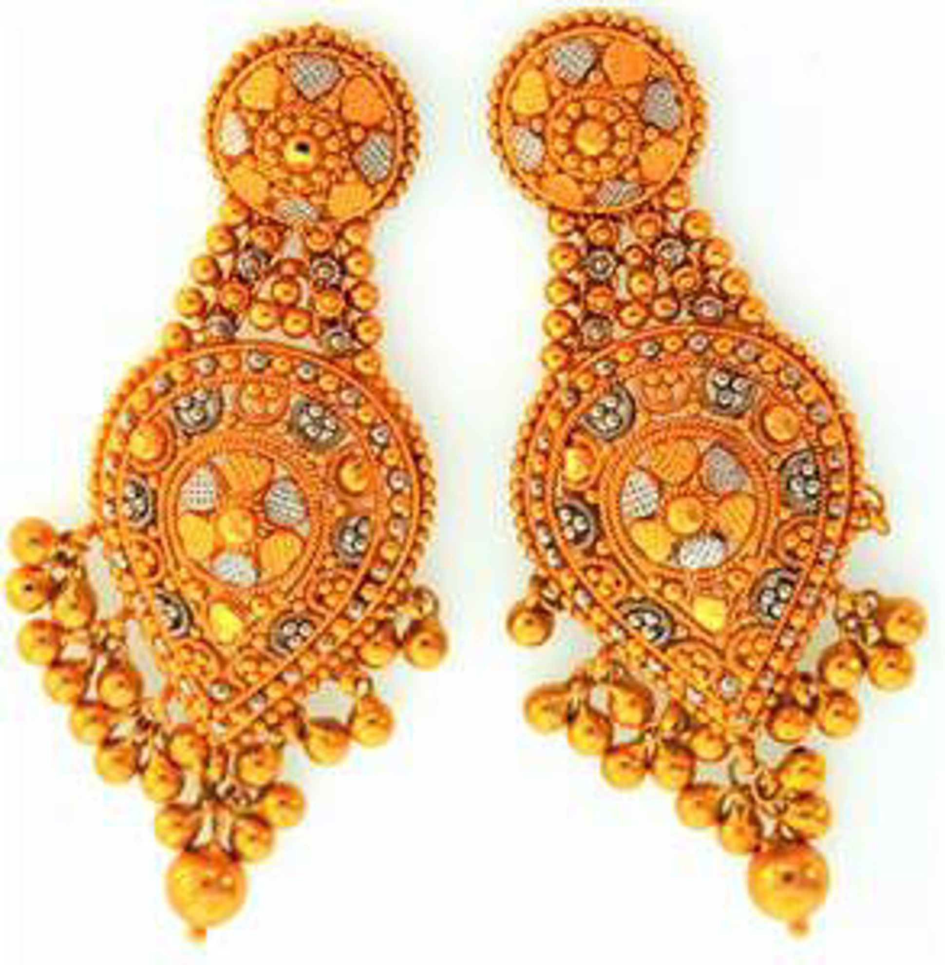 Picture of Earrings 22kt-9.9 DWT, 15.4 Grams