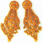 pair of 22 karat gold earrings purchased by goldfellow